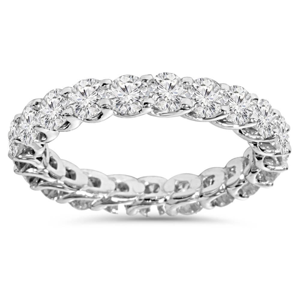 2 1/2 Carat U Prong Diamond Eternity Womens Wedding Ring ...