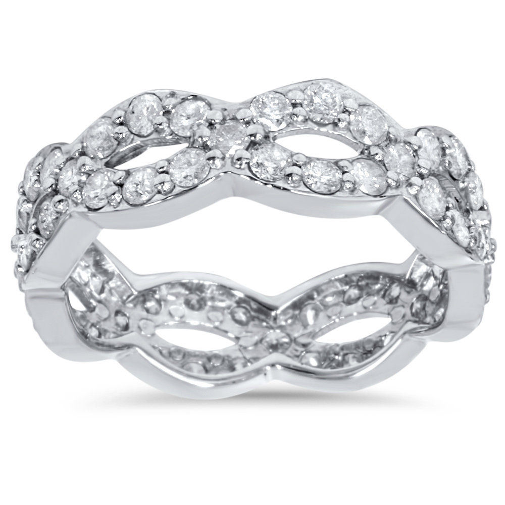 1 Cttw Diamond Infinity Eternity Wedding Anniversary Ring ...