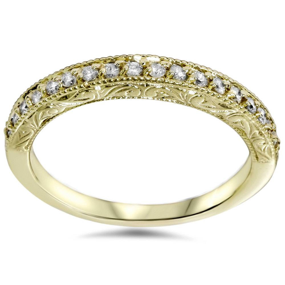 1/2ct Yellow Gold Diamond Vintage Wedding Ring 14K | eBay