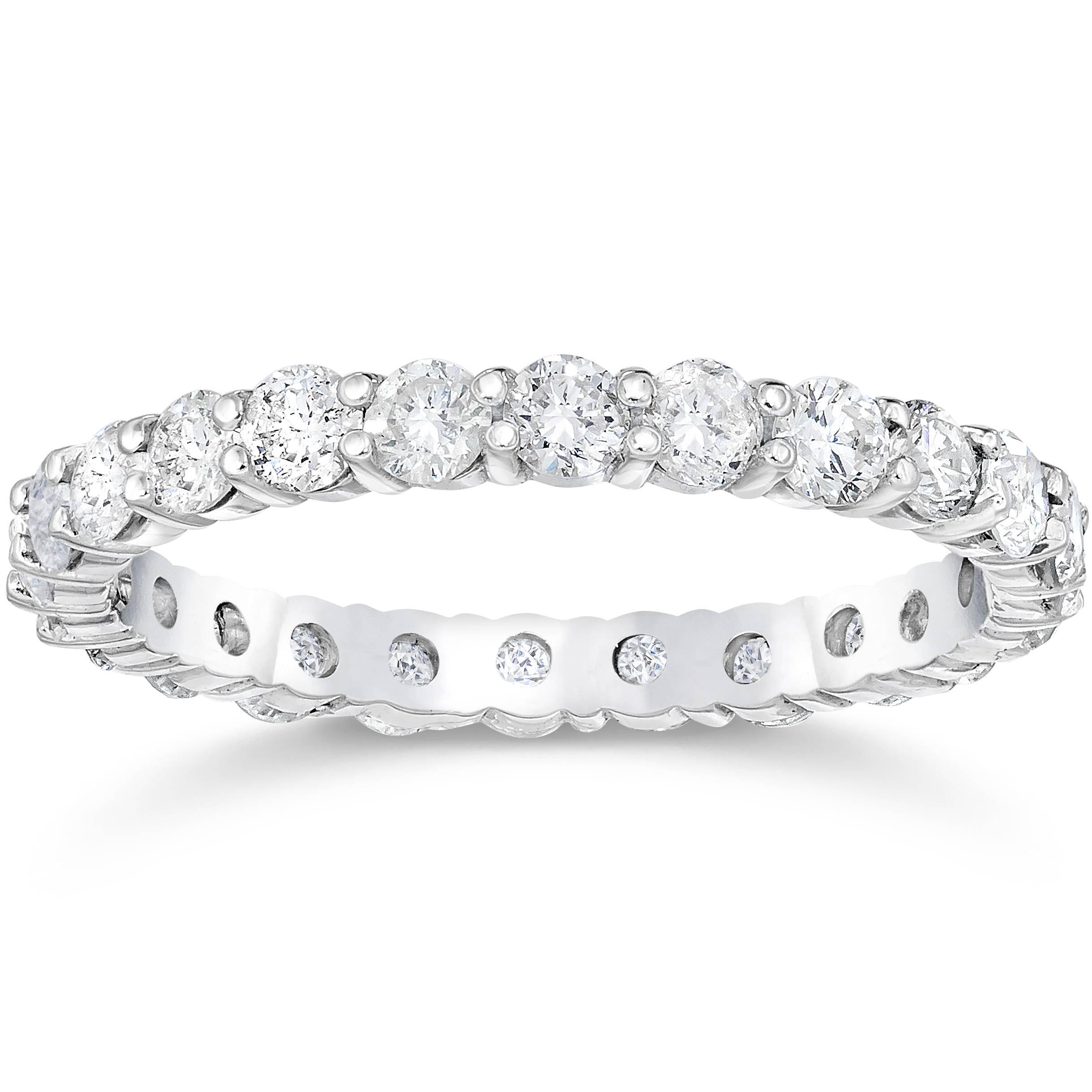 Diamond Eternity Platinum: 1 1/2ct Diamond Eternity Ring 950 Platinum Womens
