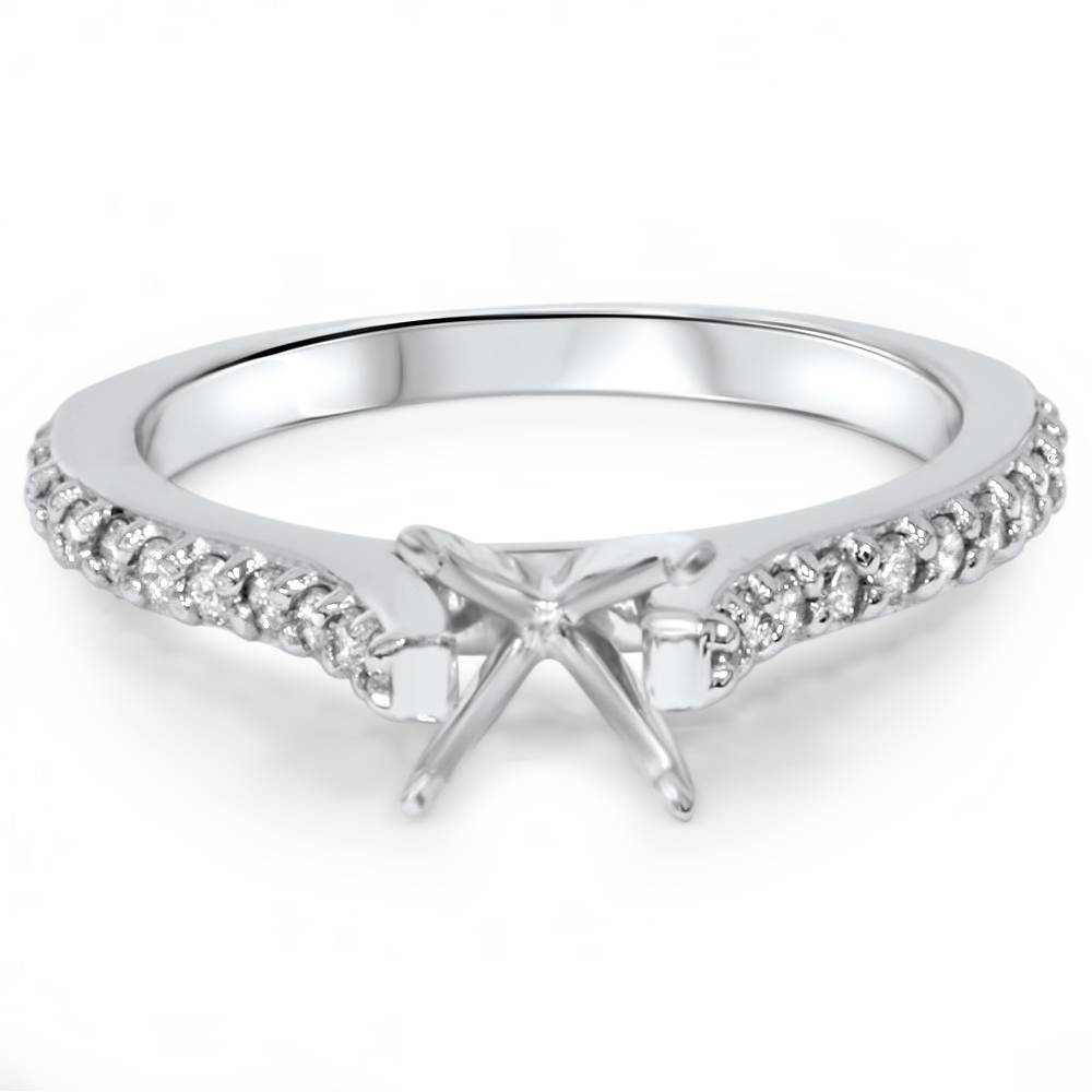 1 4ct Diamond Engagement Ring Setting 14K White Gold