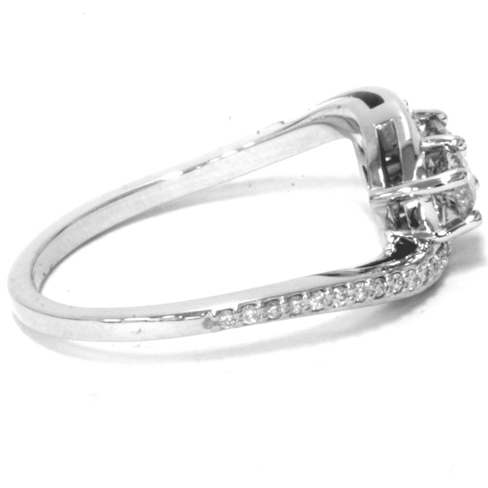1 2 carat 2 stone forever us diamond ring white gold ebay. Black Bedroom Furniture Sets. Home Design Ideas