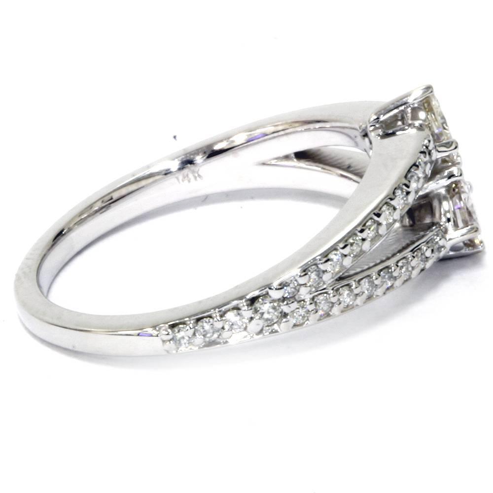 5 8 carat 2 stone forever us diamond engagement ring 14k. Black Bedroom Furniture Sets. Home Design Ideas