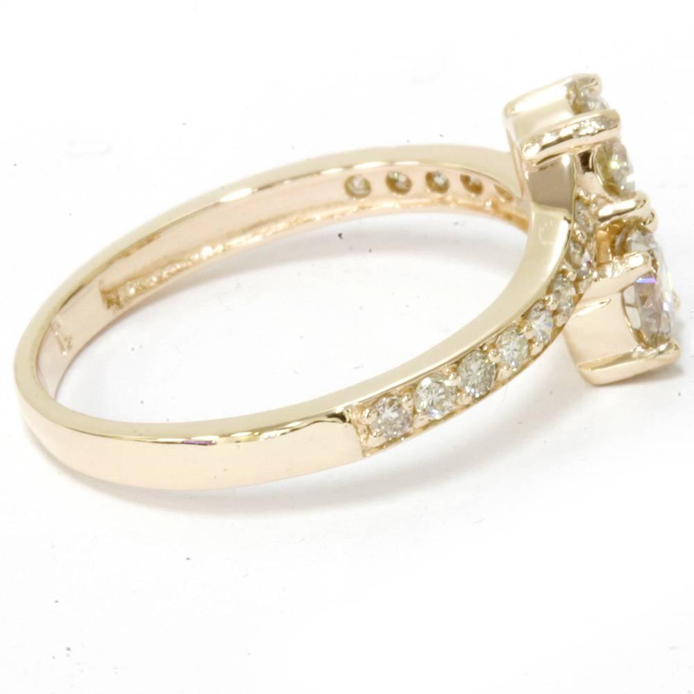 2 ct forever us 2 stone diamond ring 14k yellow gold ebay. Black Bedroom Furniture Sets. Home Design Ideas