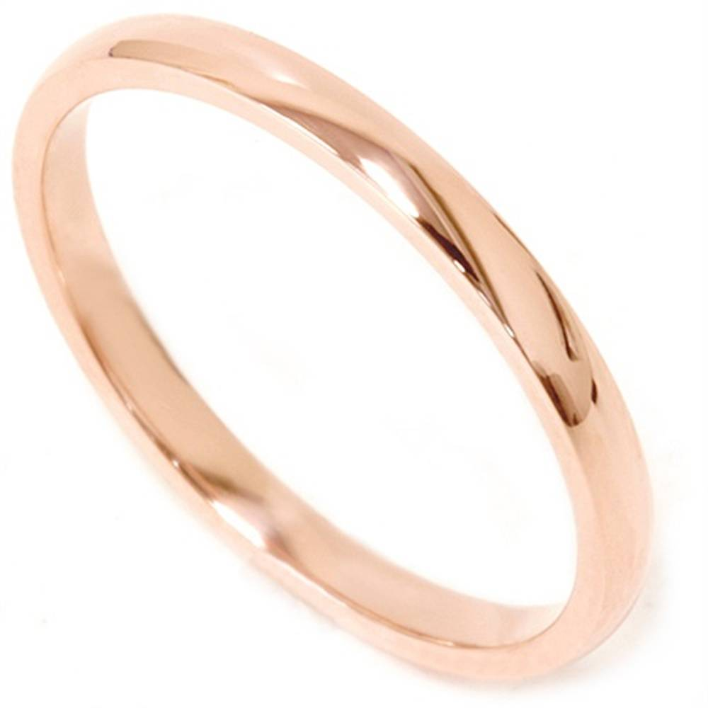 2mm 14k rose gold comfort fit plain wedding band ebay