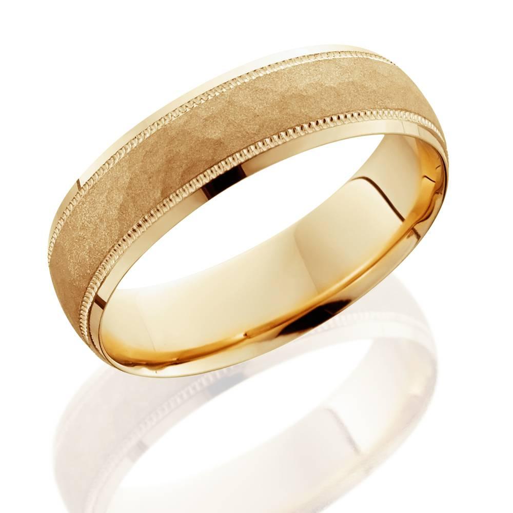hammered 6mm wedding band 10k yellow gold ebay