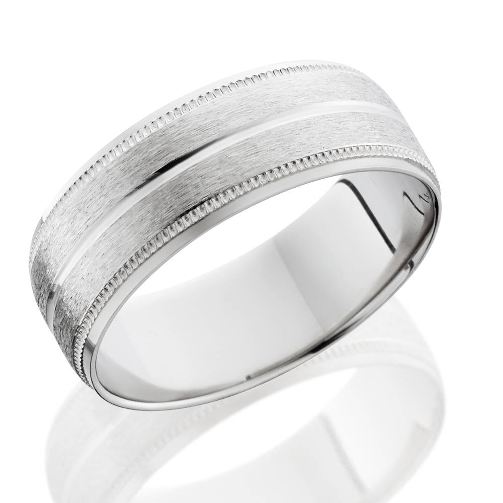 Men 39 S 8mm Palladium Satin Wedding Band Bands Mens Rings