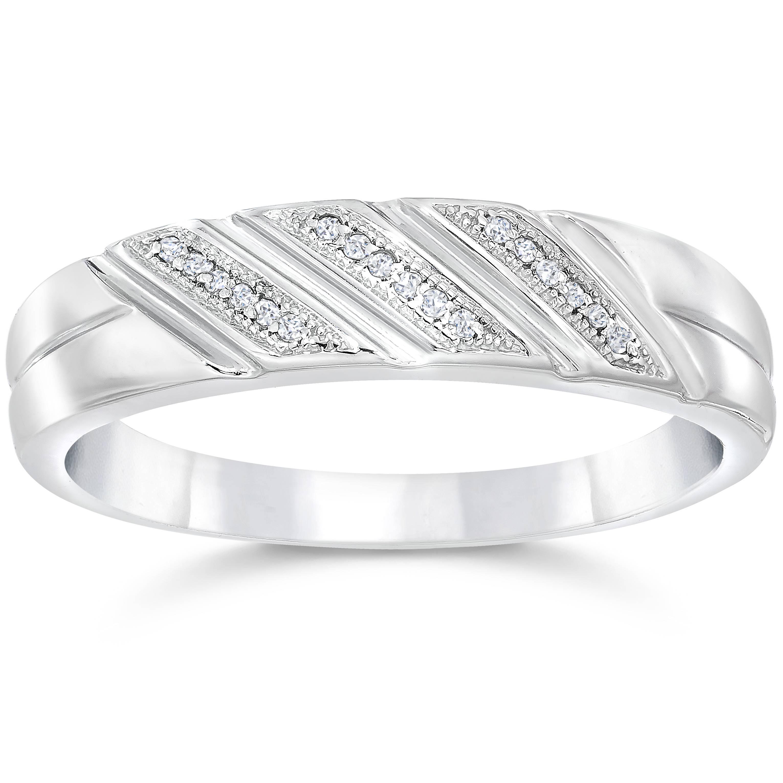 20ct mens diamond wedding ring 10k white gold ebay for 10k white gold wedding ring