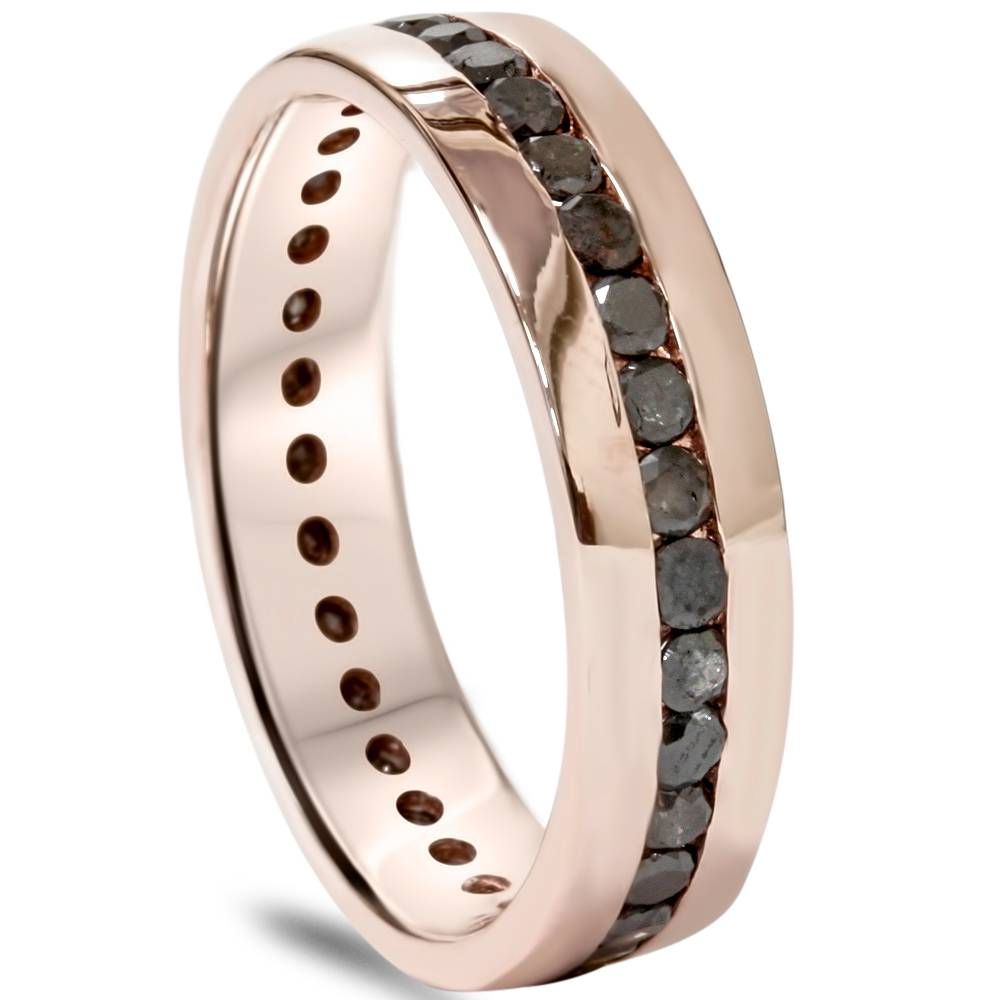 rose gold mens wedding band title