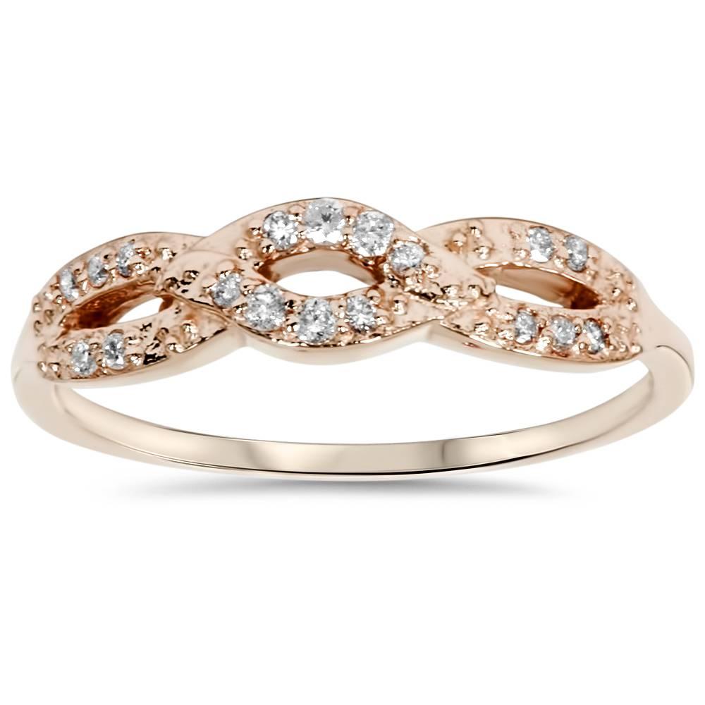 Ct Gold Diamond Infinity Ring