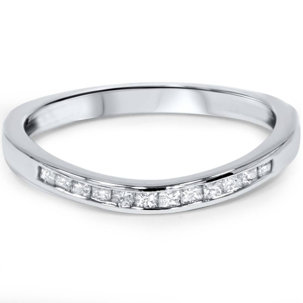 1 4ct princess cut curved guard wedding ring