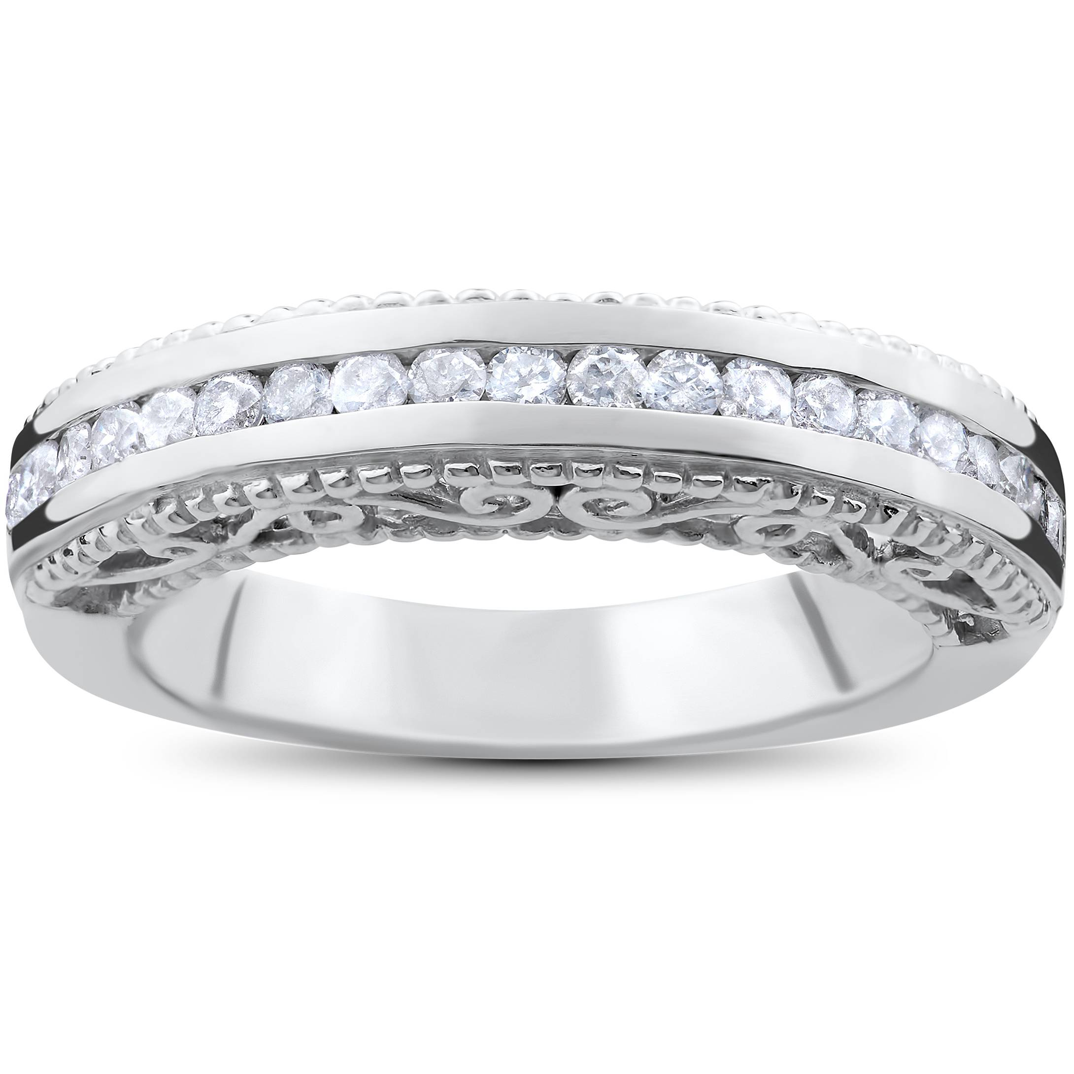 stackable diamond ring 1 2ct vintage round diamond wedding