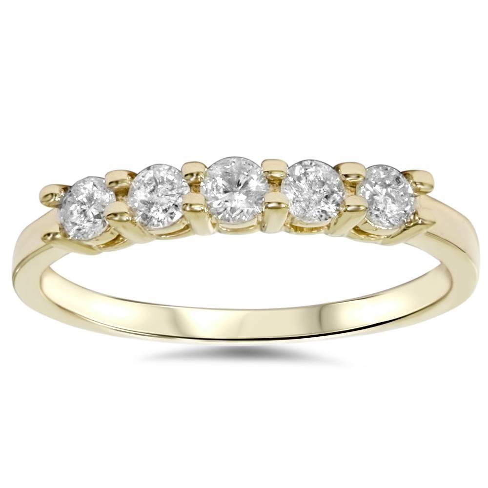 Ct diamond stone wedding anniversary k yellow gold