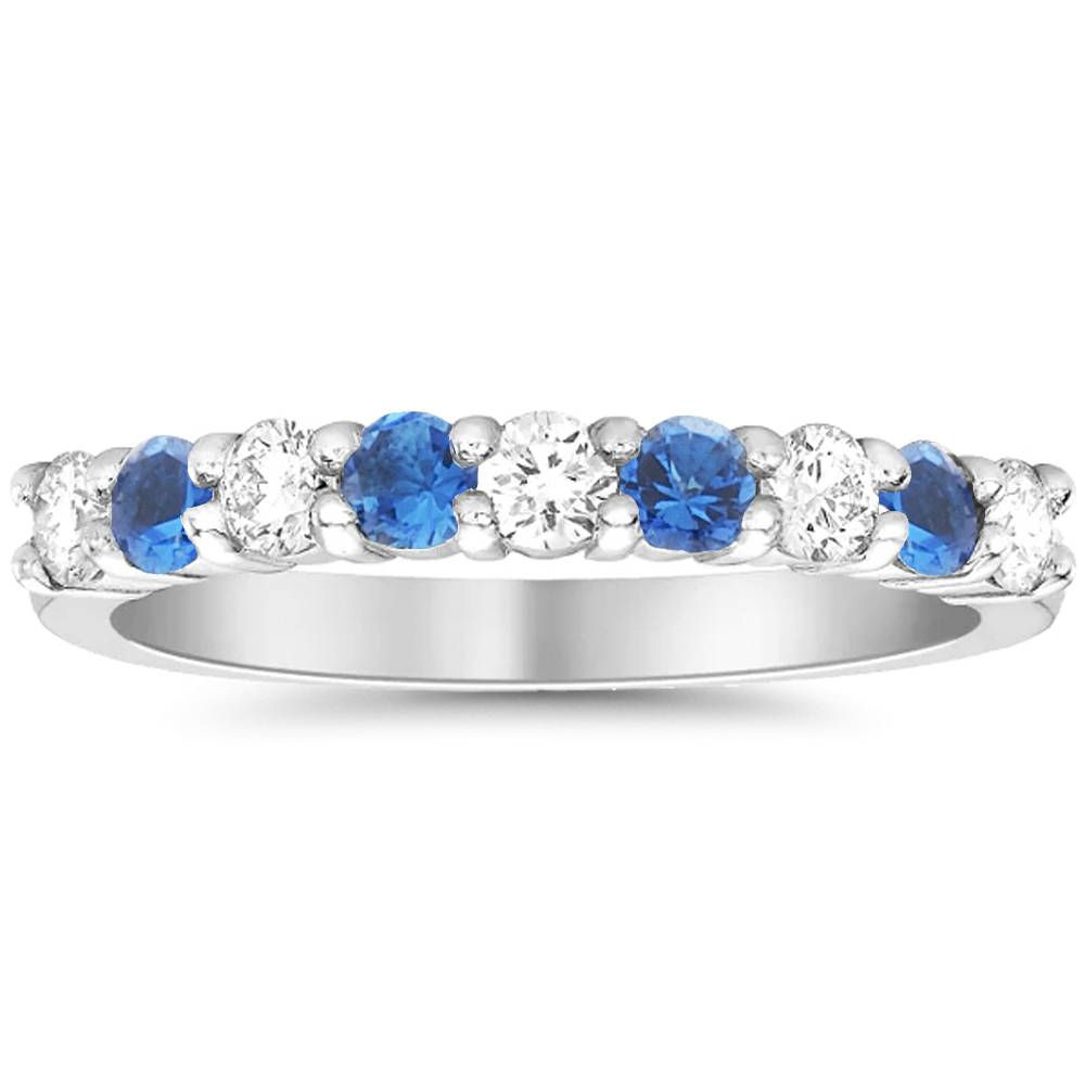 1 2ct blue sapphire diamond wedding ring 10k white gold. Black Bedroom Furniture Sets. Home Design Ideas