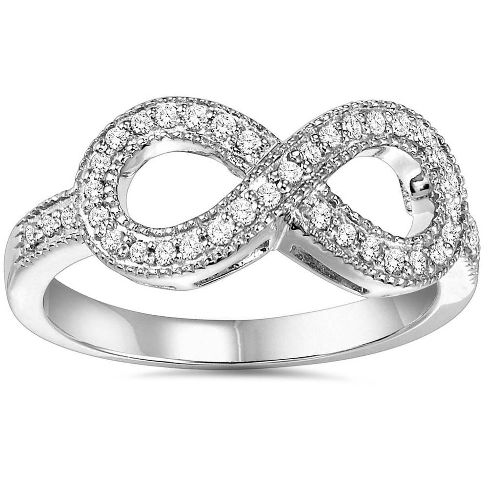 13ct diamond infinity ring 10k white gold ebay