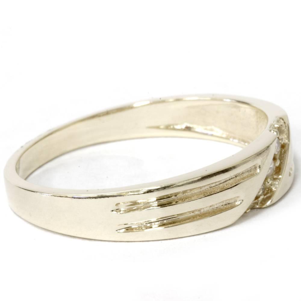 mens 14k yellow gold diamond wedding anniversary ring ebay. Black Bedroom Furniture Sets. Home Design Ideas