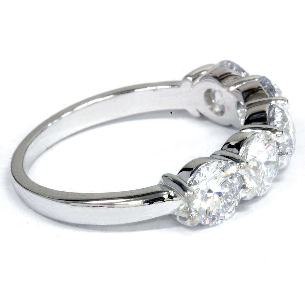 2 1 2 carat five stone lab created diamond wedding ring for Lab created diamond wedding rings