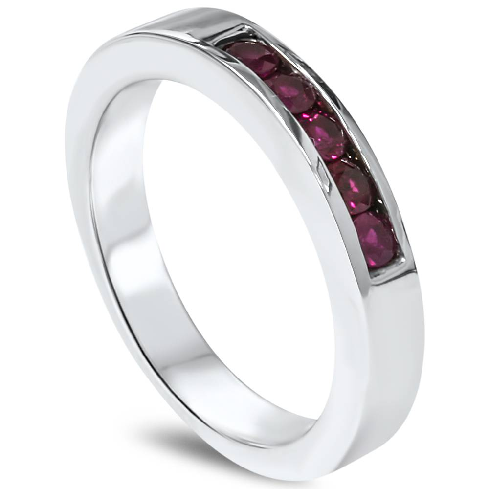67 mens wedding band with ruby titanium mens ring
