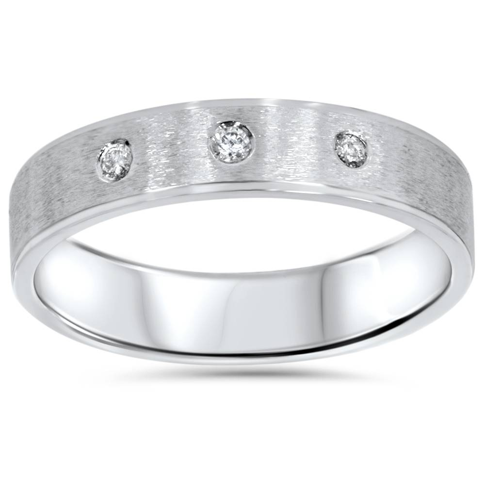 mens white gold brushed wedding ring band ebay