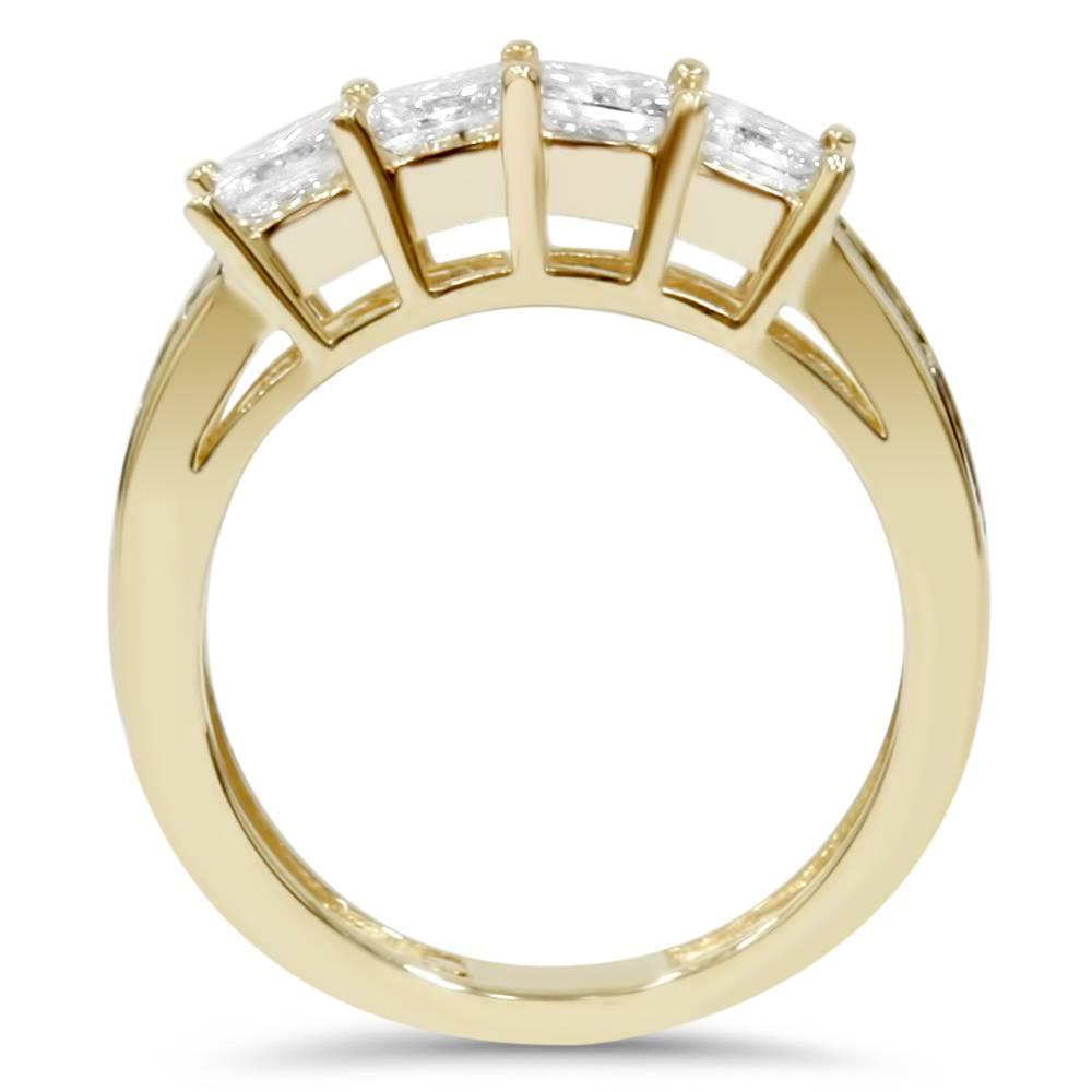 4 1 3ct princess cut enhanced engagement guard