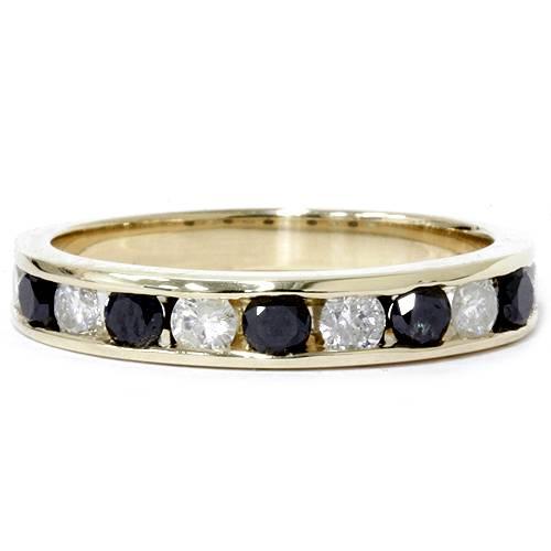 Pompeii3 Yellow Gold Ring 14 Karat 1.00CT Black & White Geniune Diamond Wedding Band New at Sears.com