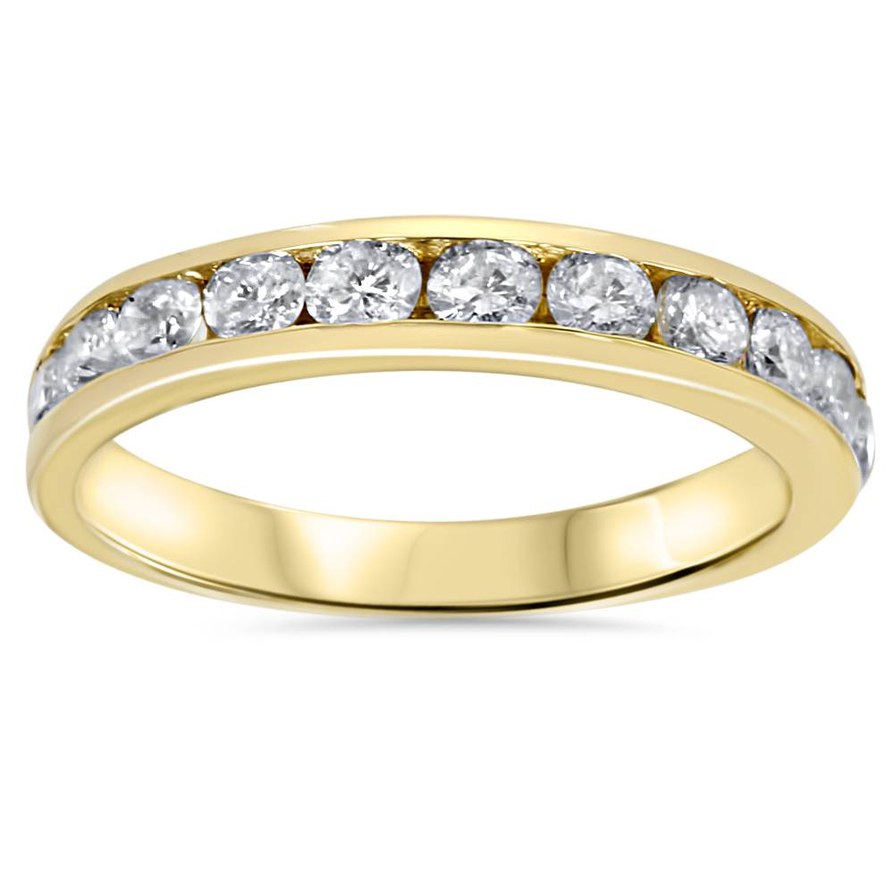 1ct Diamond Wedding Ring 14K Yellow Gold Ring Band | eBay