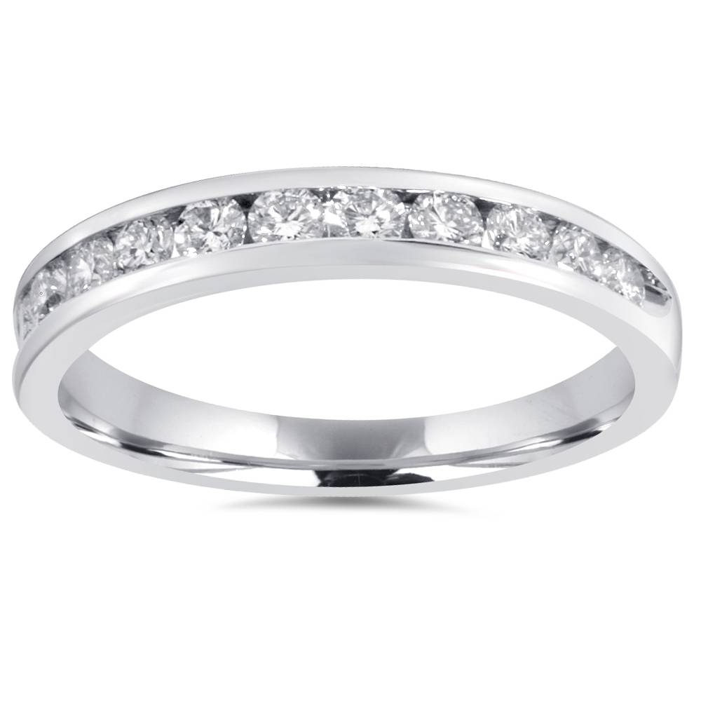 1 2Ct Diamond Wedding Ring 10K White Gold