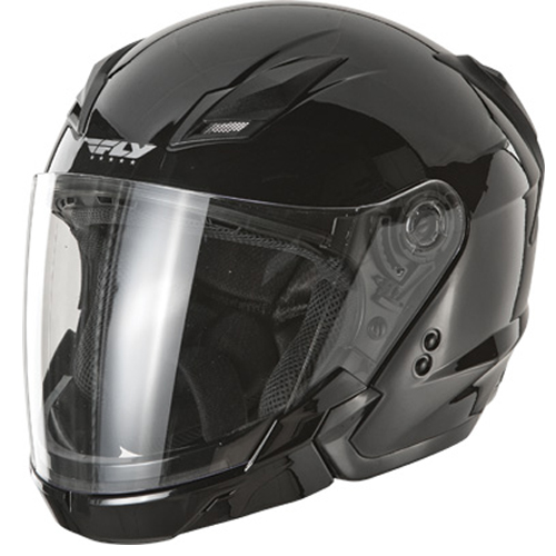 Fly Racing Tourist Street Motorcycle Helmet Gloss Black Size XX-Large at Sears.com