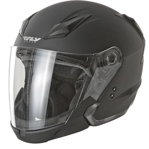 Fly Racing Tourist Street Motorcycle Helmet Flat Black Size XX-Large at Sears.com