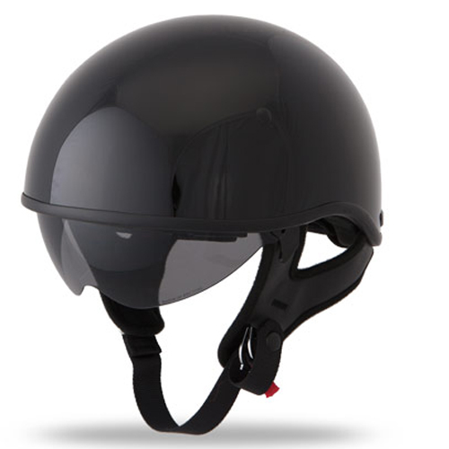 Fly Racing .357 Half Face Street Motorcycle Helmet Gloss Black Size X-Large at Sears.com