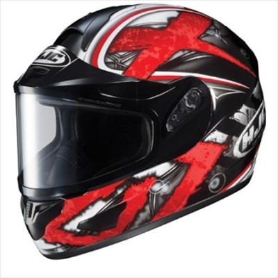 HJC CL-16 Shock Snow Helmet Electric Shield Red Black Medium at Sears.com