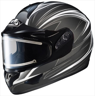 HJC CL-16 Razz Snow Helmet Black Silver Electric Shield Medium at Sears.com