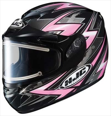 HJC CS-R2 Snow Helmet Thunder Electric Shield Pink Black Medium at Sears.com