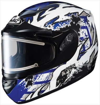HJC CS-R2 Snow Helmet Skarr Blue Black Electric Shield Medium at Sears.com