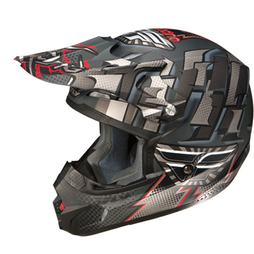 Fly Racing Kinetic Dash Motocross Helmet Matte Black Silver Size X-Large at Sears.com