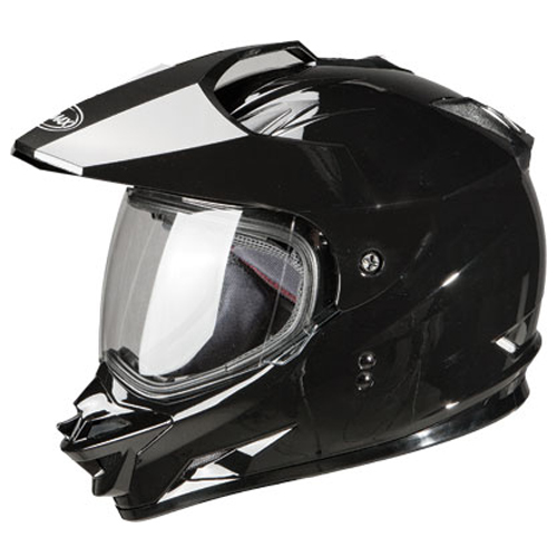 GMAX GM11D Dual Sport Motorcycle Helmet Black Size Medium at Sears.com