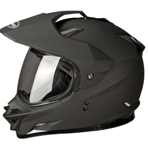 GMAX GM11D Dual Sport Motorcycle Helmet Flat Black Size Medium at Sears.com