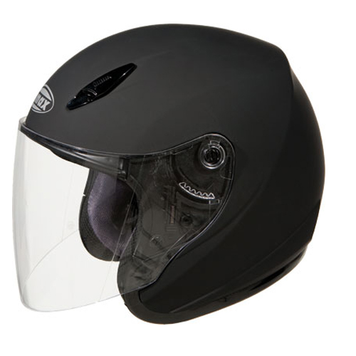 GMAX GM17 Open Face Motorcycle Helmet Flat Black Size Medium at Sears.com