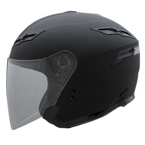 GMAX GM67 Open Face Motorcycle Helmet Flat Black Size Medium at Sears.com