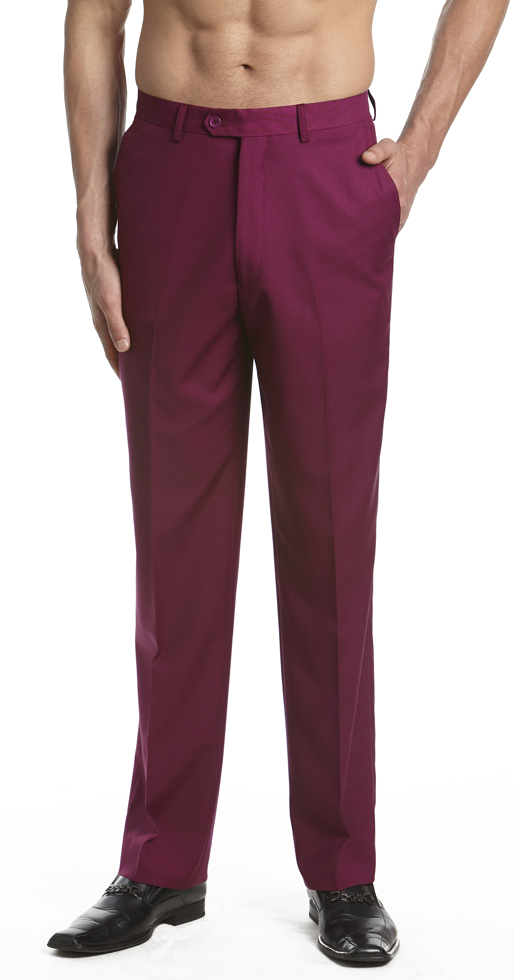 How to Choose Colored Dress Pants for Men If you want to get the perfect colored dress pants for men with correct finishing touch, you have to know that finish depends on six different factors. These significant factors are pleats, pockets, closures, cuffs, lining and fit.