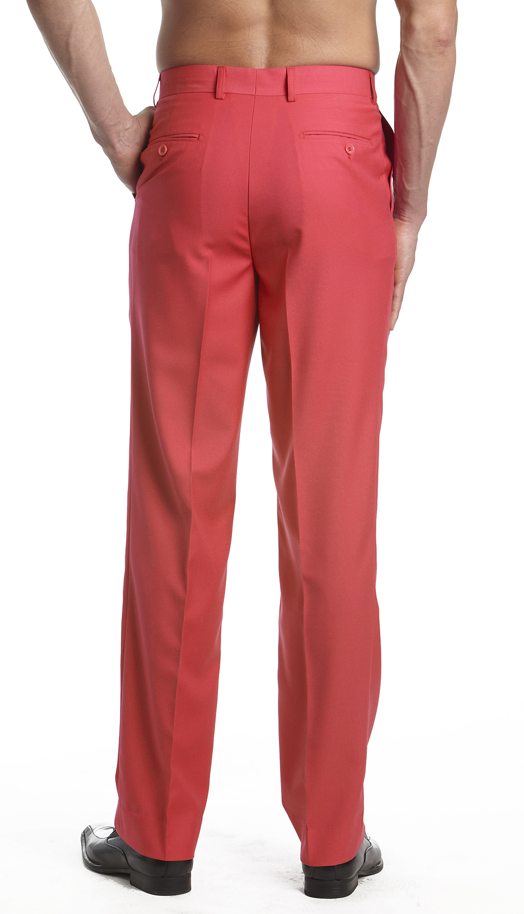 CONCITOR Men's Dress Pants Trousers Flat Front Slacks Solid ...