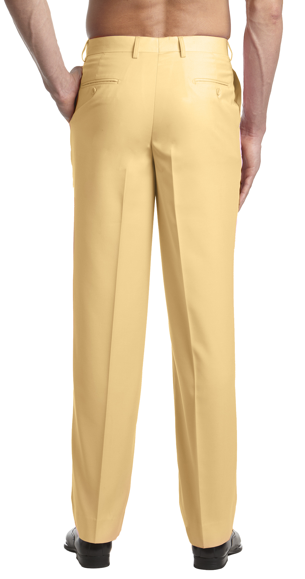 CONCITOR Men's Dress Pants Trousers Flat Front Slack Huge ...