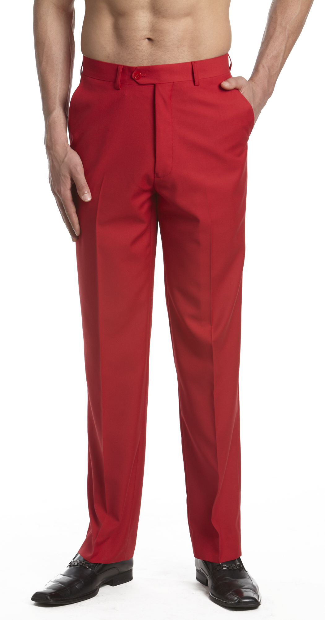 Details about concitor men s dress pants trousers flat front slacks
