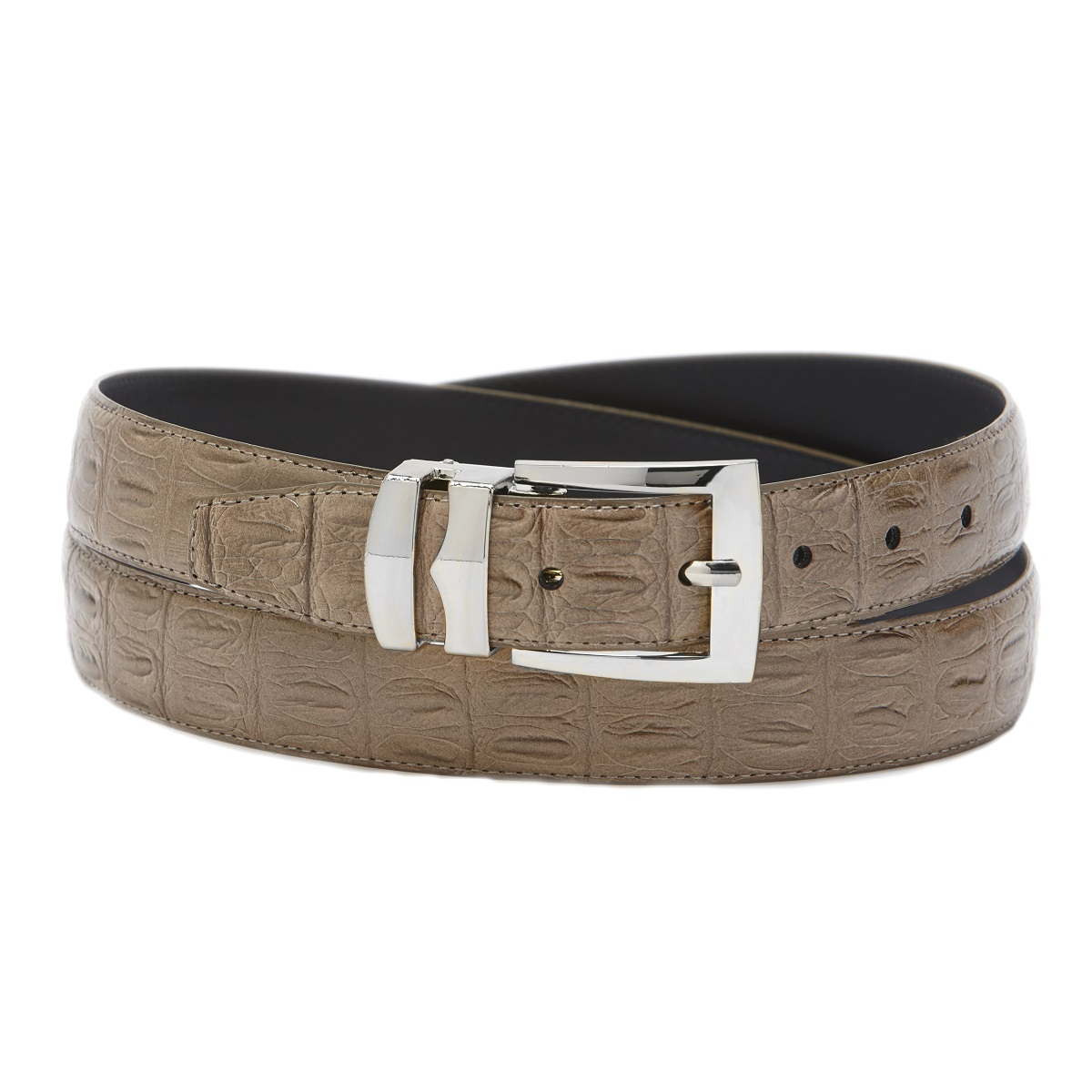 Men S Wide Bonded Leather Belt In Colors Hornback Pattern