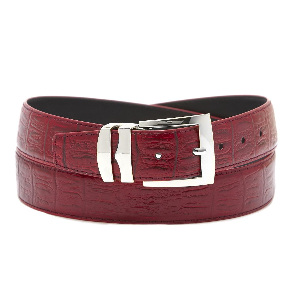 Men S Wide Bonded Leather Belt In Colors Hornback Pattern