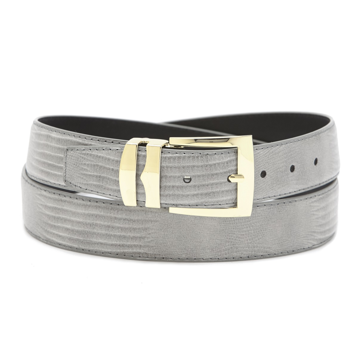 s bonded leather belt in solid colors lizard skin