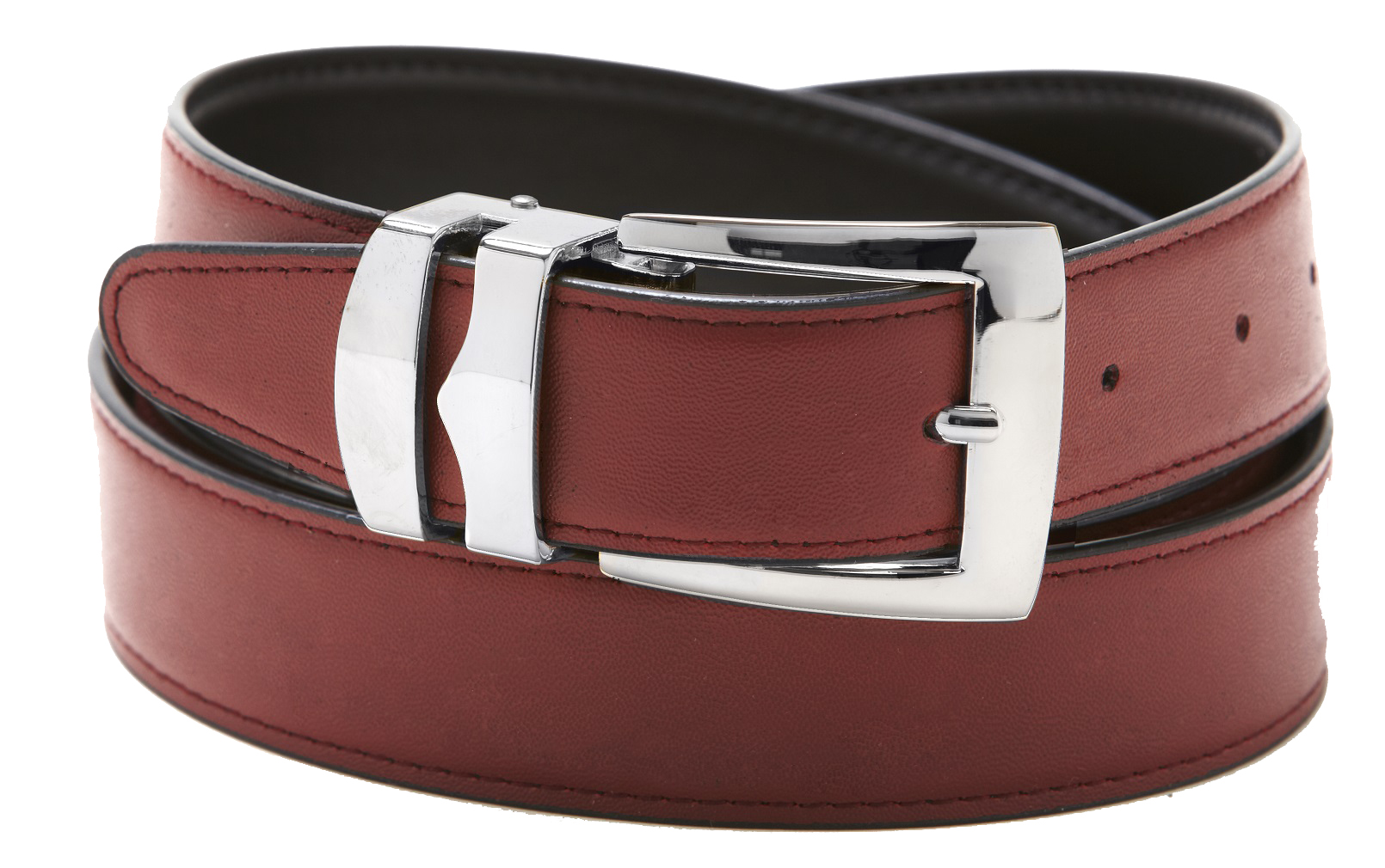 s belt reversible bonded leather belts silver tone