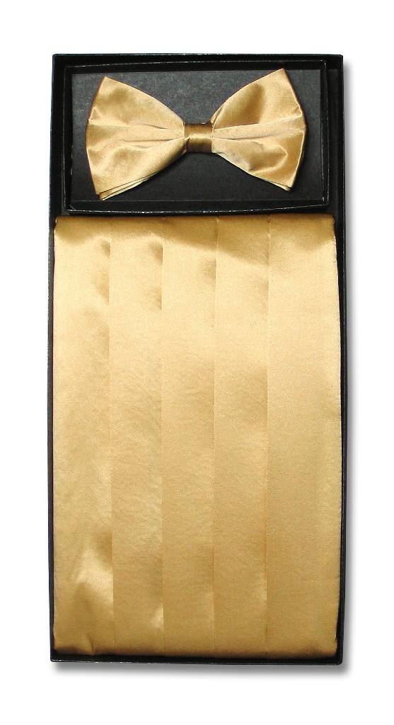 silk cumberbund bowtie solid gold color s cummerbund