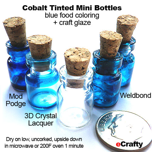 Diy cobalt blue glass mini bottles charms with these for Diy crafts with glass jars and bottles