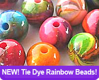 Rainbow Resin Beads
